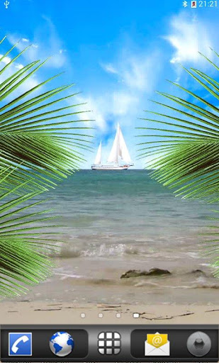 Tropical Paradise LWP для планшетов на Android