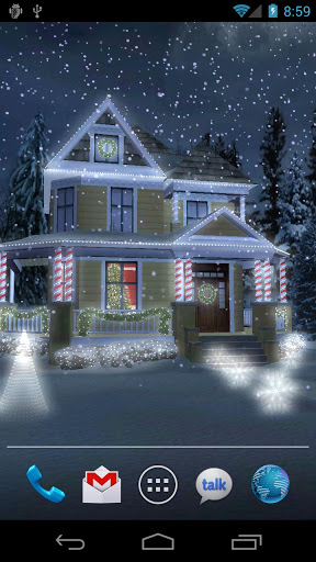 "Живые обои ""Holiday Lights Live Wallpaper"" для планшетов на Android"