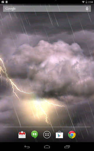 "Живые обои ""Thunderstorm Live Wallpaper"" на Андроид"
