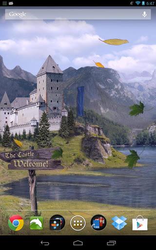"Живые обои ""Castle Live Wallpaper Pro"" на Андроид"