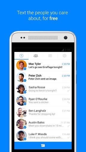 Messenger скачать на планшет Андроид