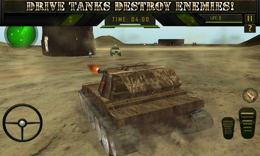 Война. Боевой танк. Зона - 3D скачать на Андроид