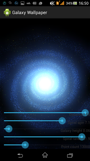 3D Galaxy live wallpaper на Андроид