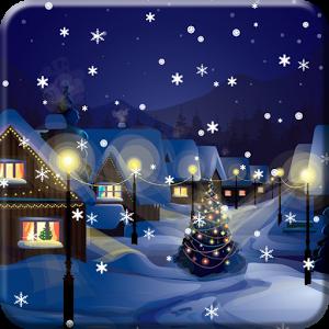Снег Ночной город