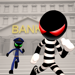 Stickman Bank Robbery Escape