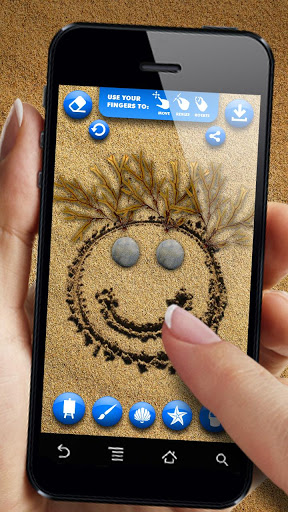 Рисование на песке на Андроид