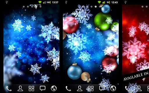 "Живые обои ""Snow Stars"" для планшетов на Android"