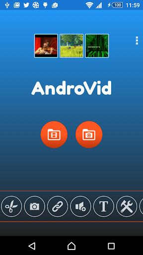 Редактор видео AndroVid на Андроид