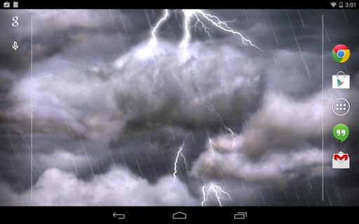 """Живые обои """"Thunderstorm Live Wallpaper"""" для планшетов на Android"""