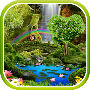 Водопад — Романтические Обои