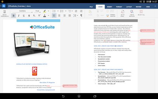 """Офис """"OfficeSuite Pro 6 +"""" для планшетов на Android"""