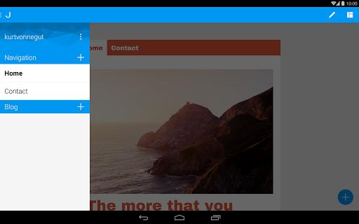 Jimdo – Конструктор сайтов для планшетов на Android