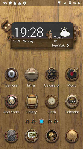 Стимпанк. Hola Launcher на Андроид