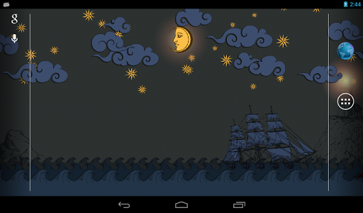 Живые обои Бумажное Море для планшетов на Android