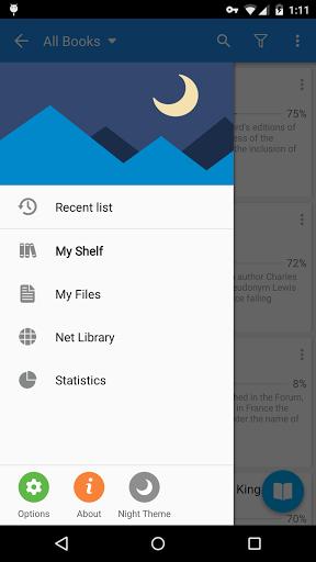Программа для чтения Moon+ Reader для планшетов на Android