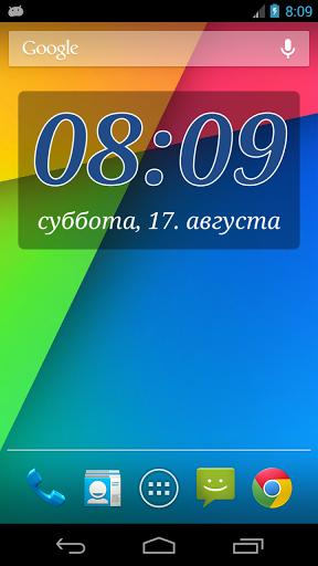 Виджет часов DIGI Clock скачать на Андроид