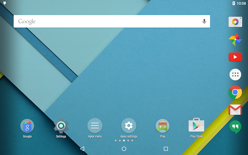 """Лаунчер """"Apex Launcher"""" для планшетов на Android"""