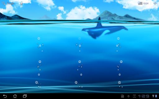Живые обои Океанские глубины на Андроид
