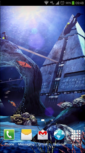 Живые обои Atlantis 3D Pro Live Wallpaper на Андроид