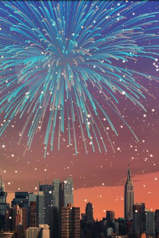 "Живые обои ""City Fireworks Live Wallpaper"" для планшетов на Android"