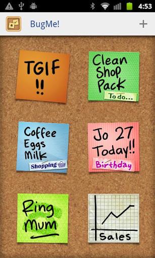 Электронные стикеры BugMe! Stickies Pro для планшетов на Android