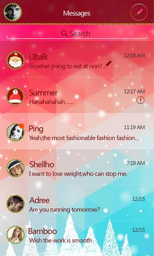 GO SMS CHRISTMAS THEME на Андроид