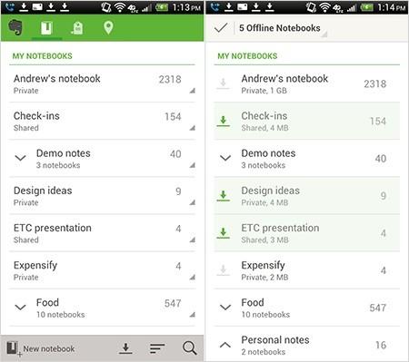 "Органайзер ""Evernote"" для планшетов на Android"