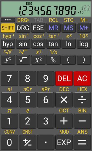 Научный калькулятор RealCalc скачать на Андроид