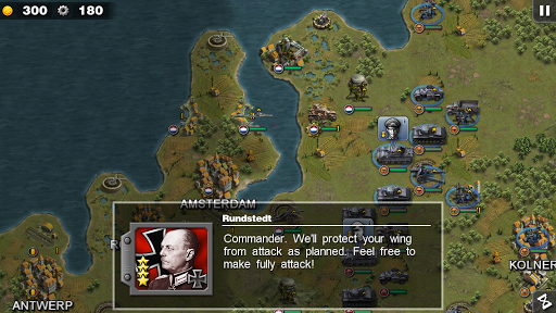 """Игра """"Glory of Generals HD"""" на Андроид"""