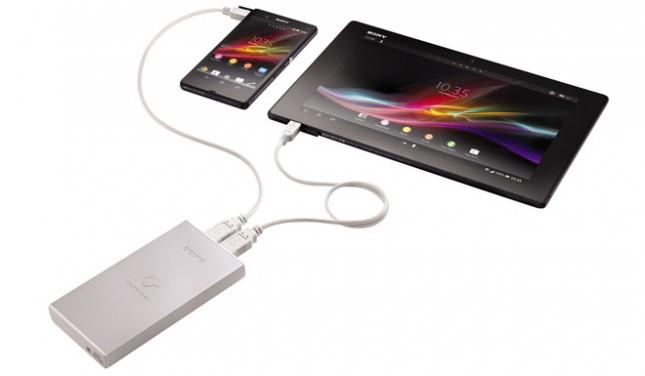 Sony представила два портативных зарядных устройства