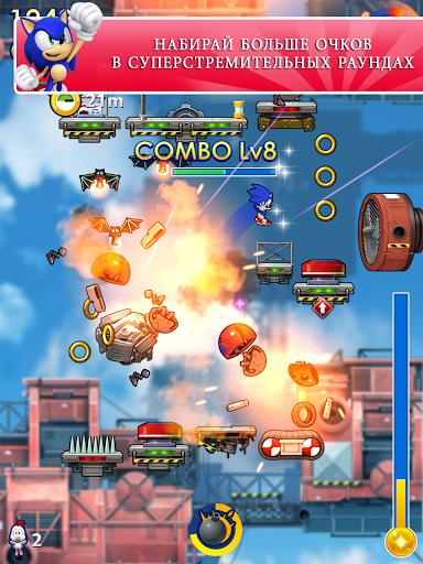 Игра Sonic Jump Fever для планшетов на Android