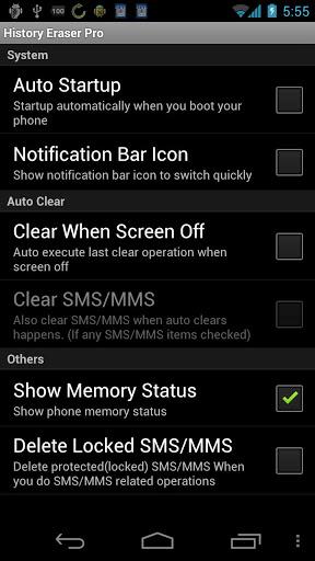 "Приложение ""History Eraser Pro"" на Андроид"