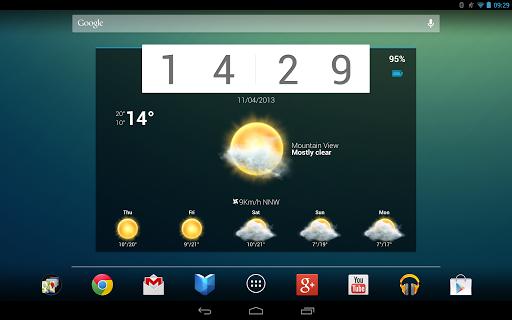 "Виджеты ""Beautiful Widgets"" для планшетов на Android"