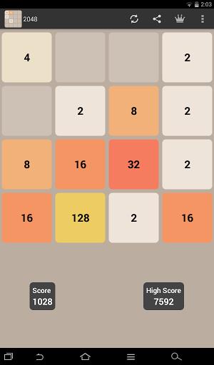 Игра 2048 для планшетов на Android