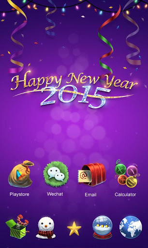 Happy New Year Launcher Theme на Андроид