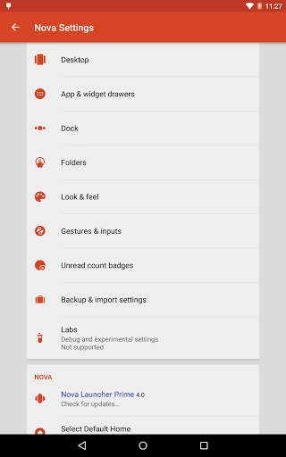 "Лаунчер ""Nova Launcher Prime"" для планшетов на Android"