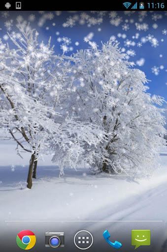 Снежная зима - Live Wallpaper скачать на планшет Андроид