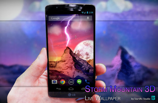 Storm Mountain 3D Wallpaper на Андроид
