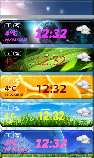 Сборник HD-виджетов погоды скачать на Андроид