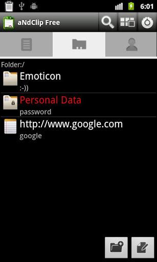 "Приложение ""aNdClip - Clipboard extension"" для планшетов на Android"