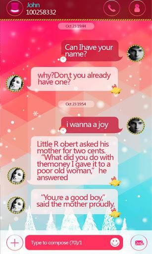 GO SMS CHRISTMAS THEME для планшетов на Android