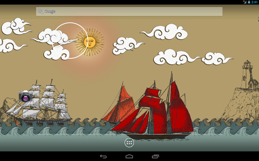 Живые обои Бумажное Море на Андроид
