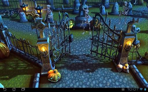 Halloween Cemetery 3D LWP скачать на Андроид