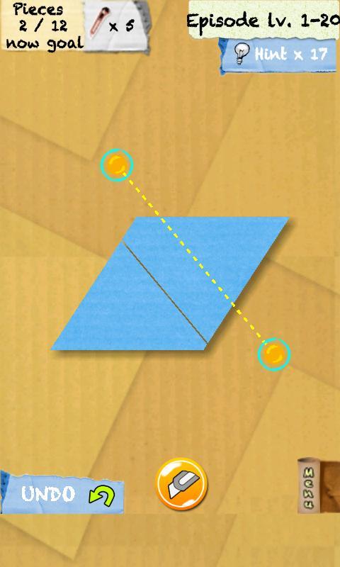 Головоломка Cut and Slice для планшетов на Android