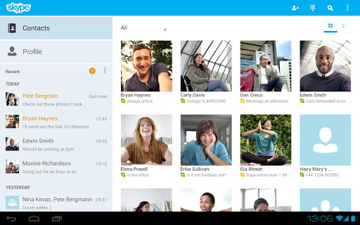 Как установить Skype на Android-планшет