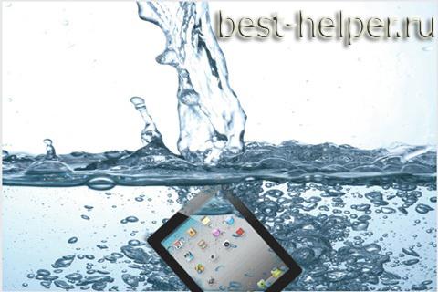 На планшет попала вода