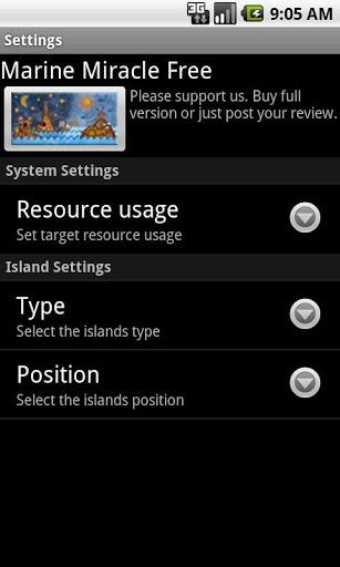 "Живые обои ""Marine Miracle Live Wallpaper"" для планшетов на Android"