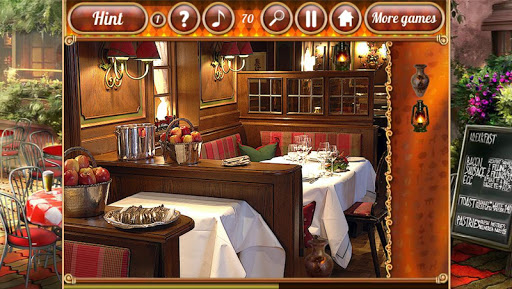 Поиск предметов: Ресторан для планшетов на Android