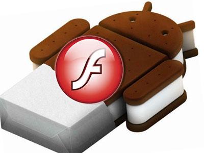 Android 4.0 Ice Cream Sandwich получит поддержку флеш