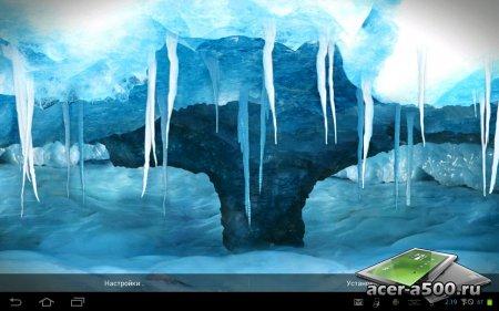 Живые обои RealDepth Ice Cave LWP
